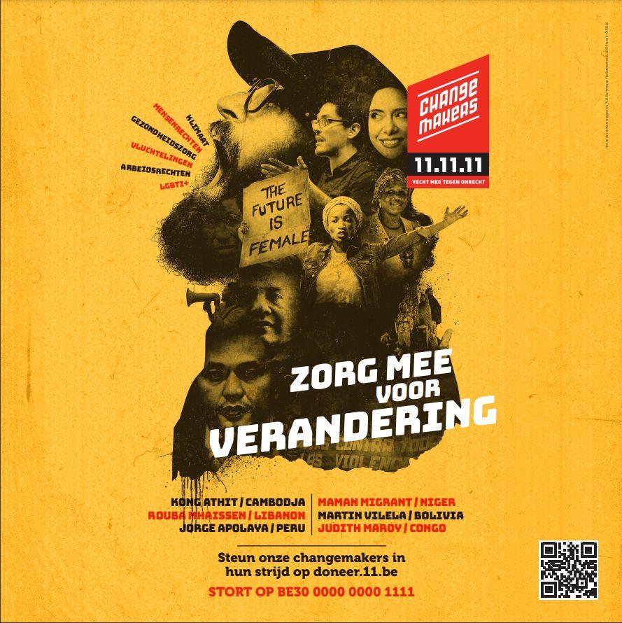 Campagnetijd bij 11.11.11: de changemakers gaan onvermoeid door!